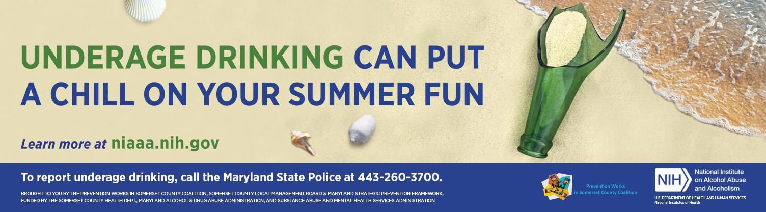 Underage Drinking can put a chill on your summer fun advertisement