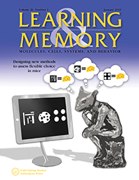 Jan 2019 Learning & Memory Cover