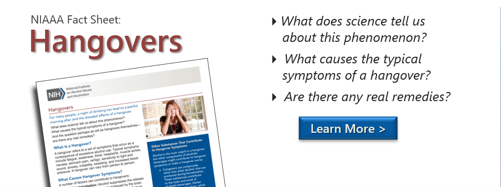 NIAAA Fact Sheet: Hangovers