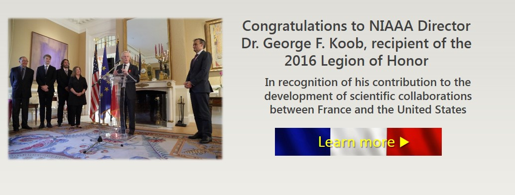 Congratulation Dr Koob for the Legion of Honor