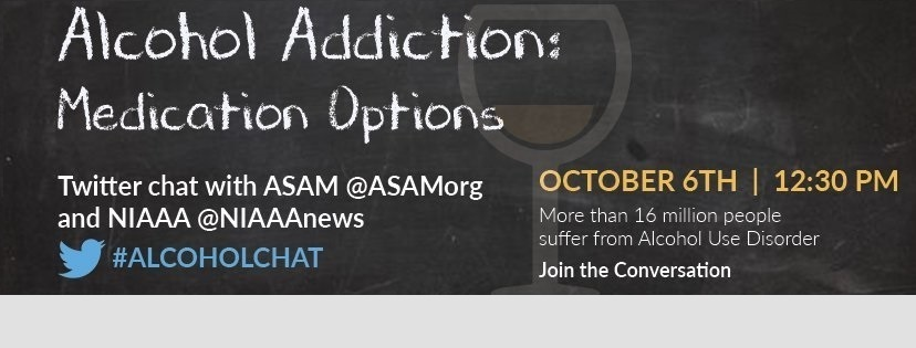 twitter chat on alcohol medications october 6