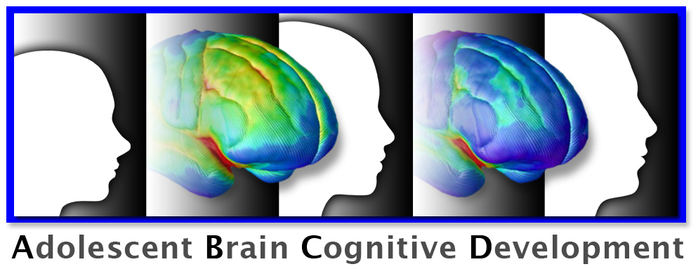 ABCD Logo with brain images