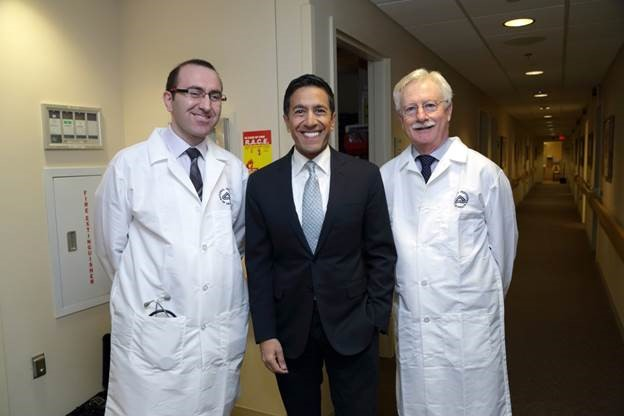 Photo of Dr. Leggio, Sanjay Gupta and Dr. Koob