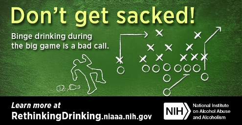 Graphic for Binge drinking during big game is a bad call