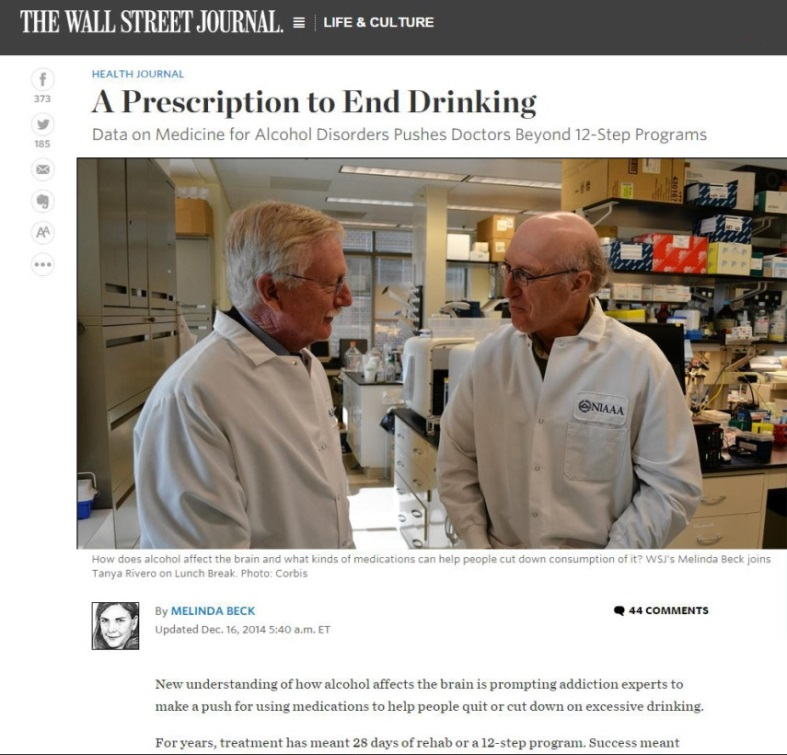 A Prescription to End Drinking/The Wall Street Journal