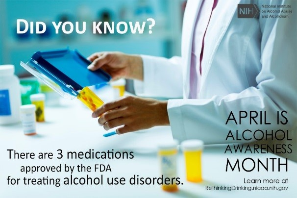 April is Alcohol Awareness month graphic