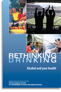 Cover of the booklet Rethinking Drinking