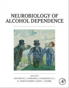 Photo of book cover titled Neurobiology of Alcohol Dependence.