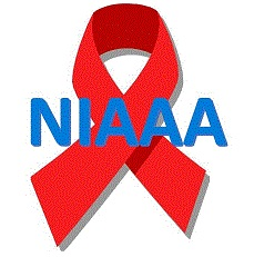 NIAAA ribbon logo HIV AIDS