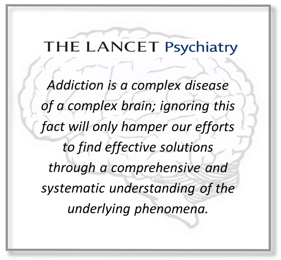 nida and niaaa commentary strongly supports brain disease model ofthe lancet addiction is a complex disease of a complex brain; ignoring this fact