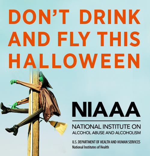Don't drink and fly this Halloween