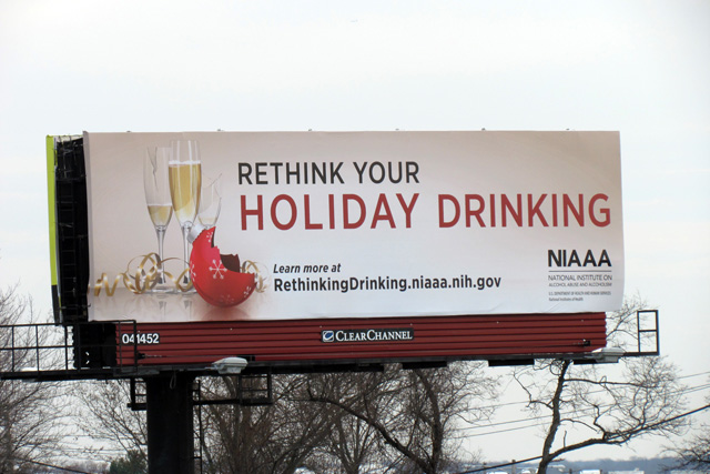 Billboard for Rethink Your Holiday Drinking