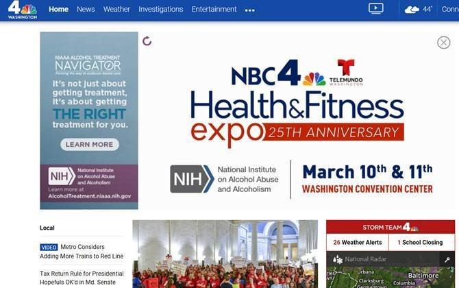 website of NBC4 Health&Fitness Expo 25th Aniversary