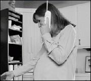 Foto de la madre en el teléfono